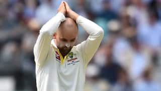 Nathan Lyon limps off the field after injuring ankle, Cricket Australia confirms nothing serious
