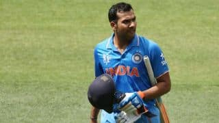 IND vs IRE: Rohit Sharma dismissed for 64 by Stuart Thompson