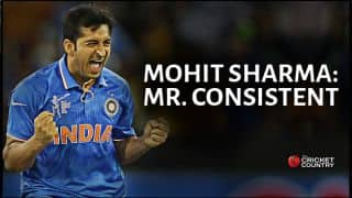Mohit Sharma showing tremendous skill in ICC Cricket World Cup 2015