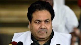 कावेरी विवाद के बाद चेन्नई में मैच कराने के लिए राजीव शुक्ला ने केंद्र से मांगी मदद