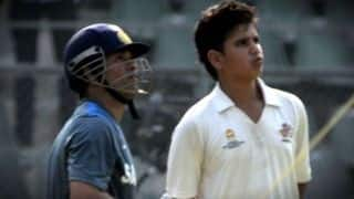 Sachin says will pray for him after Arjun Tendulkar picked in India U-19 squad for Sri Lanka tour