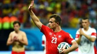 Shaqiri's hat-trick propels Switzerland to next round