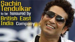 Sachin Tendulkar to be honoured by British East Indian Company with gold coins worth 12,000 pounds