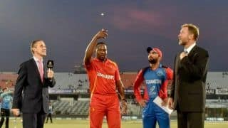 Afghanistan elect to bat against Zimbabwe in tri-series T20