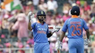 Shikhar Dhawan, Virat Kohli take India to 289 for 7 in Pink ODI vs South Africa