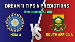 IN-A vs SA-A Dream11 Team India A vs South Africa A, 5th unofficial ODI – Cricket Prediction Tips For Today's Match IN-A vs SA-A at Thiruvanathapuram