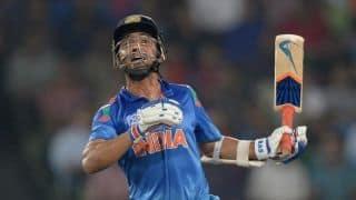 India vs Sri Lanka ICC World T20 2014 final: Ajinkya Rahane bowled by Angelo Mathews
