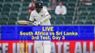 Live Cricket Score, South Africa vs Sri Lanka, 3rd Test, Day 3 at Johannesburg: SA win by an innings and 118 runs