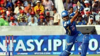 Mumbai Indians close in on victory against Sunrisers Hyderabad in IPL 2014