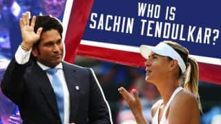 Sharapova doesn't know who Tendulkar is