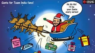 Virat Kohli - Santa for Team India fans!