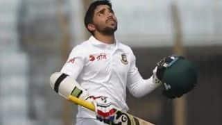 मोमिनुल हक के शतक से बांग्लादेश की 223/8 पर पारी घोषित, विंडीज के सामने 395 का लक्ष्य