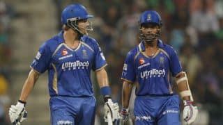 Shane Watson, Ajinkya Rahane lay strong platform for Rajasthan Royals against Kings XI Punjab in Match 18 of IPL 2015
