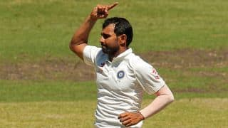 Mohammed Shami become 3rd fastest Indian pacer to reach 100 Test wickets