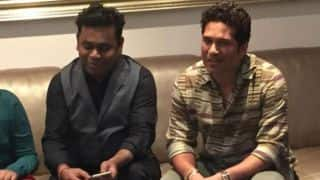 PHOTO: Sachin Tendulkar hosts AR Rahman at his house