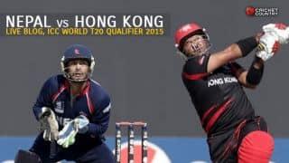 Live Cricket Score, ICC World Twenty20 Qualifier 2015, Nepal vs Hong Kong at Stormont: Hong Kong win by 5 wickets