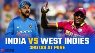 India vs West Indies 2018, 3rd ODI, LIVE cricket score, Pune: West Indies beat India by 43 runs to level series 1-1