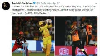 IPL 2018: Amitabh Bachchan thrilled by quality of cricket in league