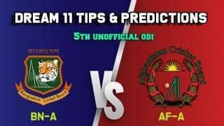 BN A vs AF A Dream11 Team Bangladesh A vs Afghanistan A, 5th Unofficial ODI, Bangladesh A vs Afghanistan A ODI – Cricket Prediction Tips For Today's Match BN A vs AF A at Savar