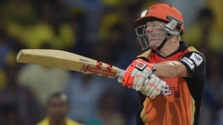 David Warner out for 58 in KXIP vs SRH IPL 2015 Match 27 at Mohali