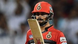 KL Rahul, Virat Kohli hit half-centuries as RCB finish on 185-7 against KKR in IPL 2016