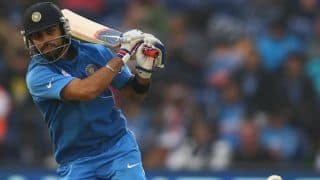 India vs New Zealand 2014, 1st ODI at Napier: India 64/1 in 15 overs
