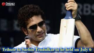 Sachin Tendulkar tribute program to be held after MCC vs Rest of World bicentenary match