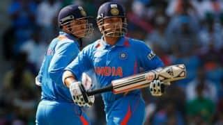 Virender Sehwag and Sachin Tendulkar in Matthew Hayden's World Cup Greatest XI