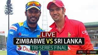 Live Cricket Score, Zimbabwe vs Sri Lanka, Tri-Nation series Final: SL win by 6 wickets