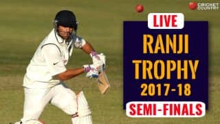 Live Cricket Score, Ranji Trophy 2017-18, semi-final, Day 3
