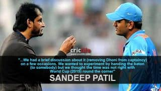Sandeep Patil and co. thought of removing MS Dhoni from ODI captaincy