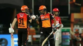 SRH vs KXIP LIVE: Powerplay update: David Warner, Wriddiman Saha blaze to 77/0 vs Kings XI Punjab