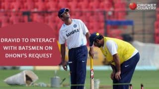 Dravid not appointed as batting consultant