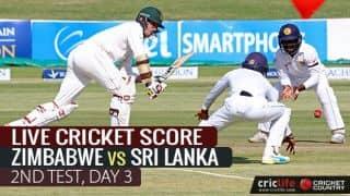 LIVE Cricket Score, ZIM vs SL, 2nd Test, Day 3, at Harare: Stumps
