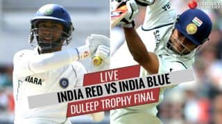 LIVE Cricket Score, Duleep Trophy 2017-18 Final, India Red vs India Blue: Stumps