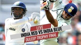 LIVE Cricket Score, Duleep Trophy 2017-18 Final, India Red vs India Blue: Stumps