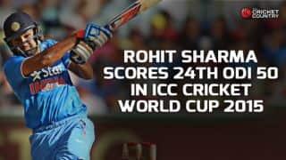 Rohit Sharma scores 24th ODI half-century against UAE in ICC Cricket World Cup 2015