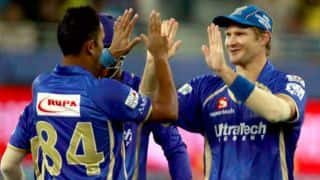 Albie Morkel dismissed by Pravin Tambe in the Royal Challengers Bangalore vs Rajasthan Royals match in IPL 2014