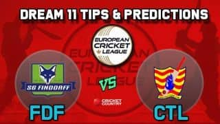 Dream11 Team FDF vs CTL Group B European Cricket League-T10 – Cricket Prediction Tips For Today's T10 Match SG Findorff vs Catalunya Cricket Club at La Manga Club