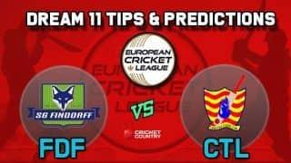 Dream11 Team FDF vs CTL Group B European Cricket League-T10 – Cricket Prediction Tips For Today's T10 Match SG Findorff vs Catalunya Cricket Club at La Manga Club