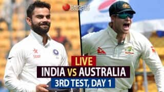 Live Cricket Score, India vs Australia 2017, 3rd Test, Day 1: Smith, Maxwell complete 150-run stand