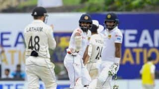 Sri Lanka solid in chase on 268 to win 1st Test