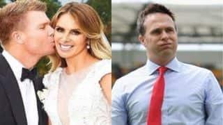 इंग्लैंड के इस पूर्व खिलाड़ी से ट्विटर पर भिड़ गई डेविड वार्नर की पत्नी