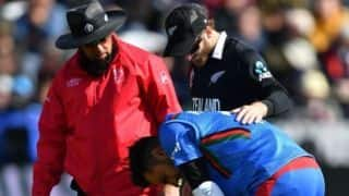 NZ vs AFG: Rashid Khan failed his first concussion test after ball hitting on his head