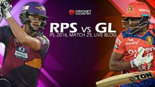 GL 196/7, 20 overs | Live Cricket Score Rising Pune Supergiants (RPS) vs Gujarat Lions (GL), IPL 2016, Match 25 at Pune: GL win by 3 wickets