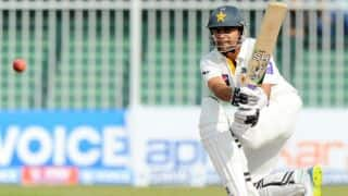 Pakistan toil for runs as Ahmed Shehzad scores patient ton
