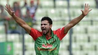Bangladesh skipper Mashrafe Mortaza playing cricket with locals in Kashmir