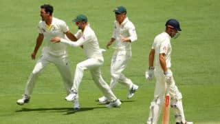 The Ashes 2017-18, 1st Test, Day 1: England steady at lunch despite losing Alastair Cook for 2