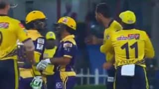 VIDEO: Ahmed Shehzad and Wahab Riaz on-field fight during PSL 2016