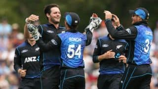 SL 258 in 47.1 overs | Target 295 | Live Cricket Score, New Zealand vs Sri Lanka 2015-16, 5th ODI at Mount Maunganui: Black Caps win by 36 runs; complete 3-1 series win!